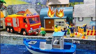 Feuerwehrmann Sam Spielzeug: Gefährliches Feuerwerk | Mike's Werkstatt in Flammen | Kinderfilm