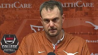 Tom Herman presser on Texas vs Oklahoma State, storming the field | College Football Sound