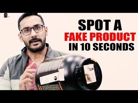 Spot a fake supplement in 10 seconds