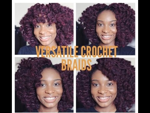 Crochet Hair Versatile : Dark Burgundy Versatile Crochet Braids - YouTube