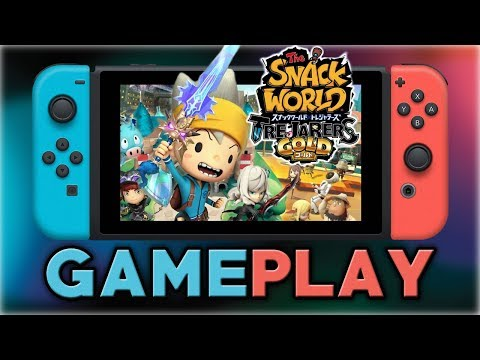 The Snack World: Trejarers Gold | First 35 Minutes | Nintendo Switch