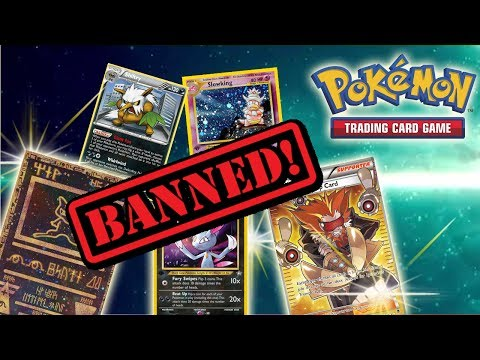ALL BANNED POKEMON CARDS THROUGHOUT THE YEARS!