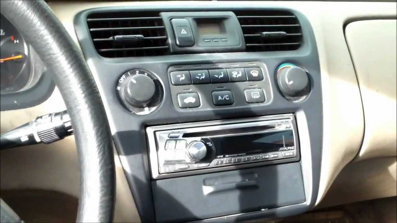 How to replace ac control assembly honda accord youtube for 2001 honda accord window problems