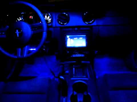 2005 mustang interior leds youtube for 2012 mustang interior lights