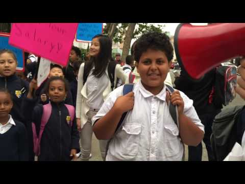 BRAINWASHING LITTLE KIDS DURING A RIOT-ESQUE PROTEST AT AMERICAN INDIAN PUBLIC CHARTER SCHOOL 5/24