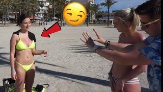 Ich berühre IHRE BRÜSTE 😏 - Frauen reagieren auf Magie in Mallorca 😍