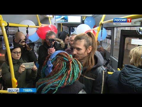 В Твери «новогодний автобус» вышел на маршрут №20