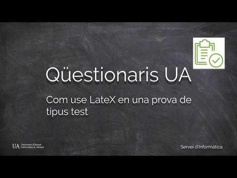 LateX en Qüestionaris d'UACloud / LateX en Cuestionarios de UACloud