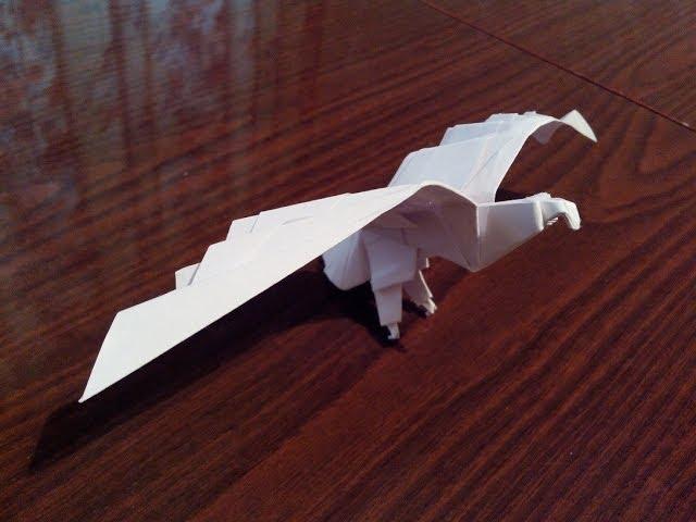 Как сделать орла из бумаги,