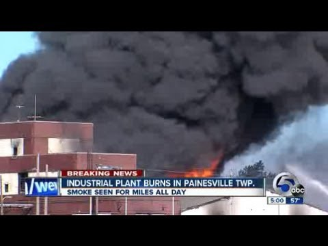5pm: Painesville factory fire