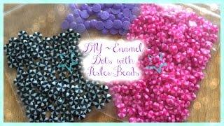 DIY Enamel Dots ~ Melting Perler Beads