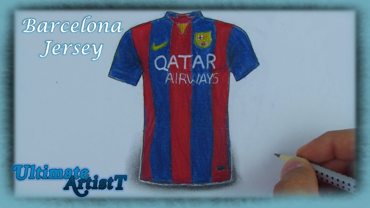 12c8371e8b4 Realistic F.C Barcelona Jersey (Speed Drawing) - YouTube