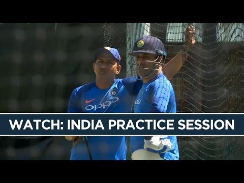 MS Dhoni & Kedar Jadhav train ahead of the 1st ODI