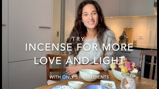 """HOW TO MAKE YOUR OWN INCENSE FOR """"LOVE AND LIGHT"""". DIY. By Karen Fleischmann"""