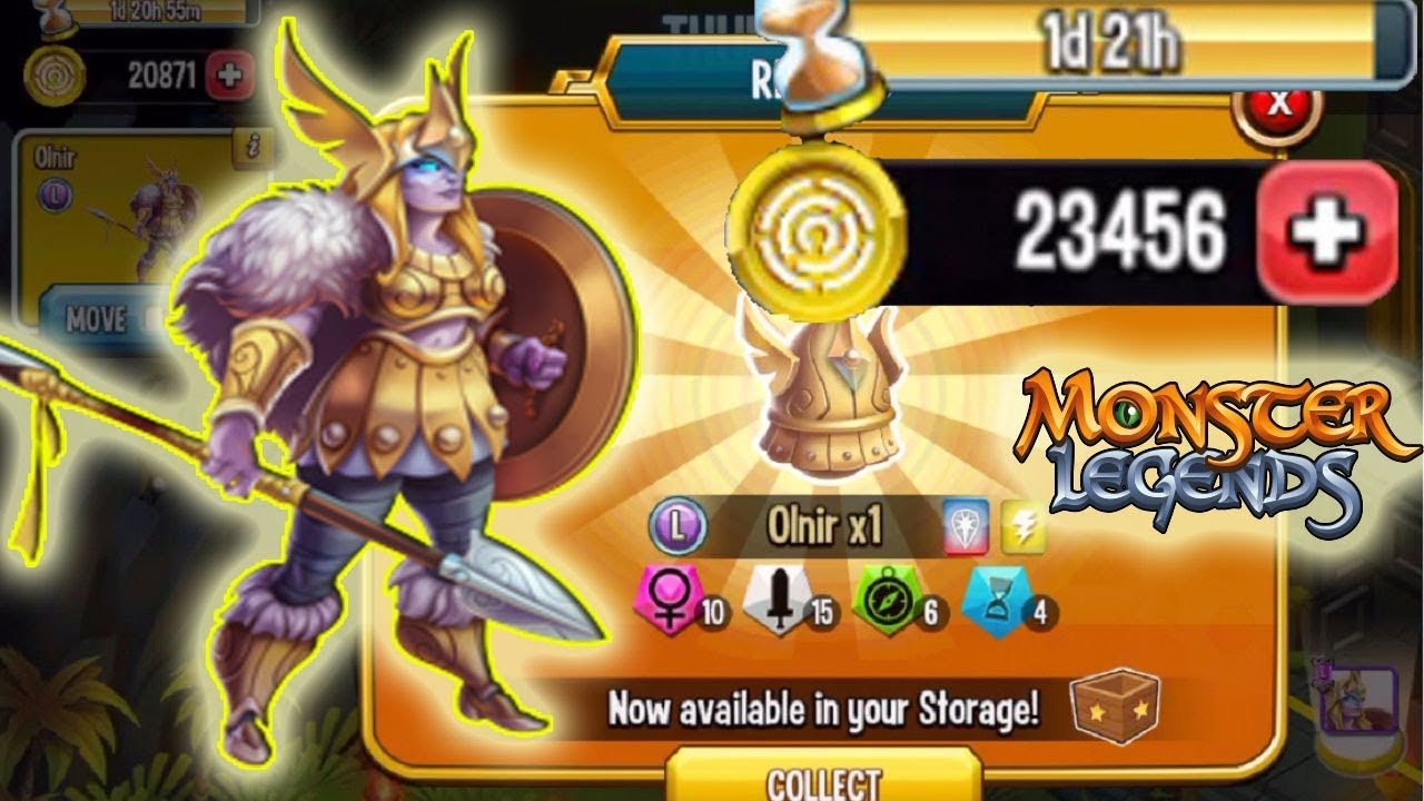 Monster Legends Olnir Thunder Path review cost get Egg rank5 Myth Breeding