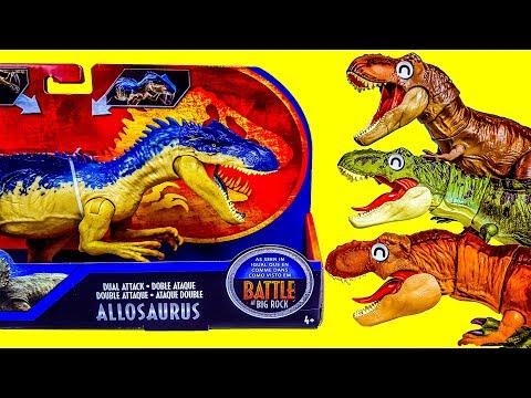쥬라기월드 다이노라이벌스 공룡배틀 알로사우루스 수코미무스 Vs. 티렉스 공룡메카드 공룡 장난감놀이