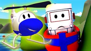 Bobby el Barco está atrapado ! La Super Patrulla: camión de bomberos y Patrulla de Policía