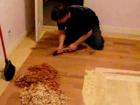 part 2 Hand scraping a hardwood floor  YouTube