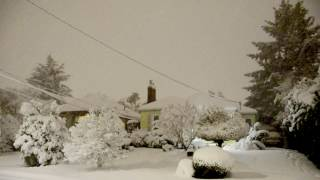THUNDERSNOW!!! Epic Unexpected Portland Snowstorm 2017