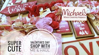 NEW 2019 Michaels Valentines Day Decor- shop with me and haul