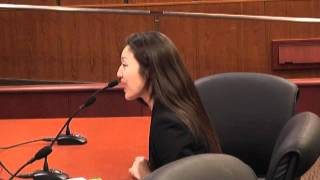 Hellen Kim, Korean American Family Services, Testifies at Women's Forum on Domestic Violence