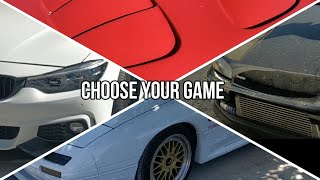 Choose your game! RX7 FD - FC - BMW 4 - CIVIC