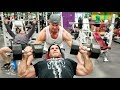 Jay Cutler trains chest & delts at LVAC with Brian Glynn and talks about trained by Jay.