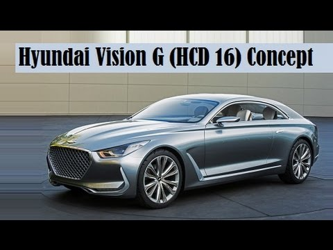 Hyundai Vision G (HCD-16) Concept, debut this weekend's Pebble Beach Concours d