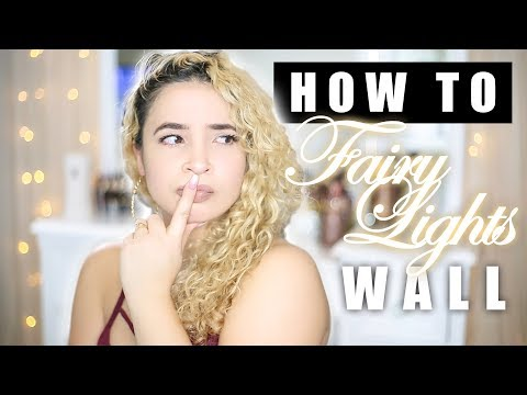 SUPER EASY HOW TO | Fairy Light Backdrop & Headboard