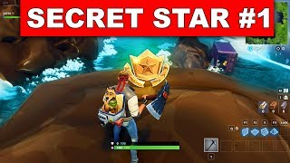 SECRET BATTLE STAR WEEK 1 SAISON 6 EMPLACEMENT! - Fortnite Battle Royale (Hunting Party Challenges)
