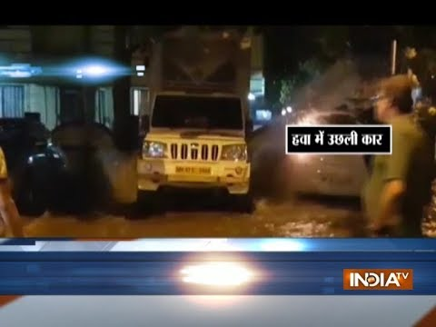 Mumbai: Water bursting out of a pipeline throws car in the air