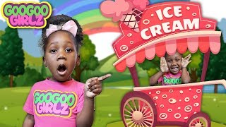 Goo Goo Gaby Pretend Play with Ice Cream Stand! (Learn to Recognize Colors with Goo Goo Girlz)