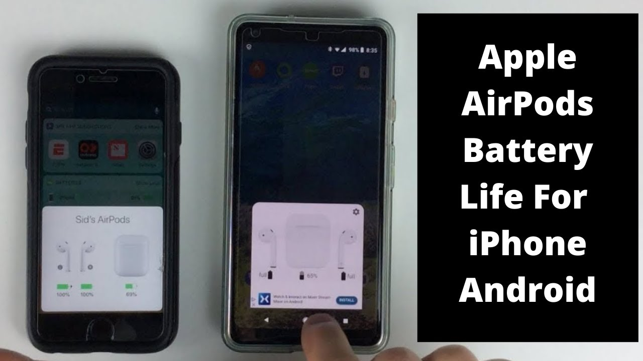 pretty nice f170b f02cf How to Check Apple AirPods Battery Life Out Of The Case For The iPhone And  Android