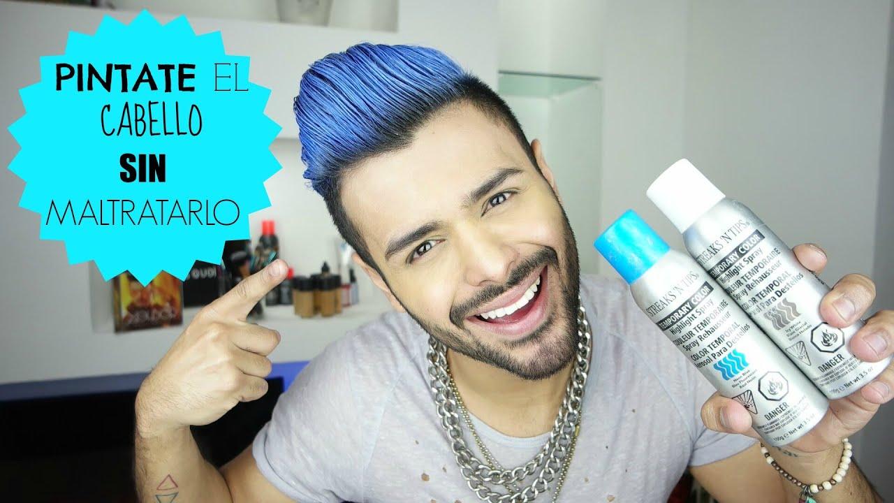 Pinta tu cabello de azul SIN maltratarlo!/Color temporal - YouTube