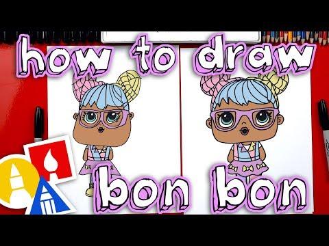 How To Draw Bon Bon L.O.L. Surprise Doll - Plus we open one!