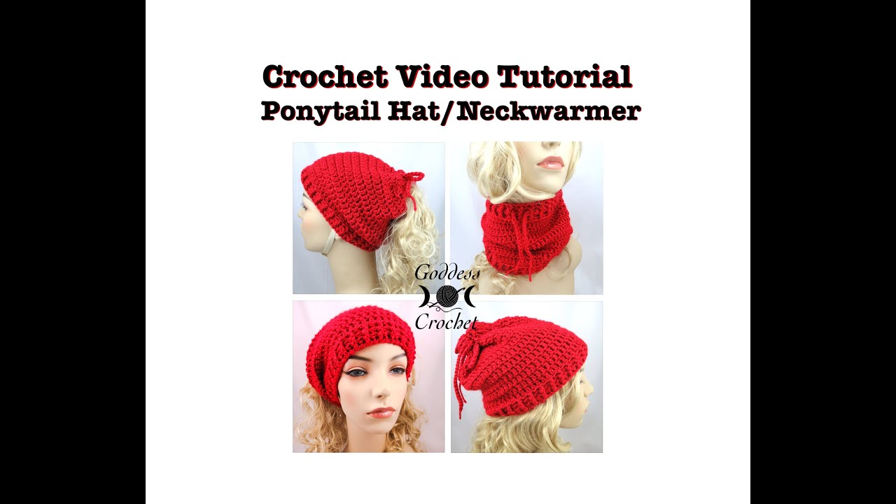 Crochet tutorial ponytail hat and neckwarmer youtube bankloansurffo Images