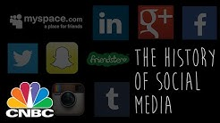 History Of Social Media In 90 seconds | CNBC