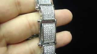 Designer Iced Out Mens Bracelet