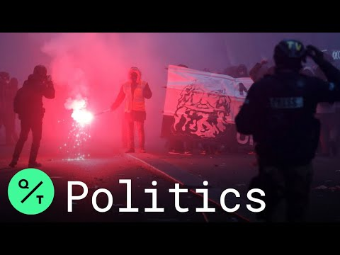 French Protesters Set Fires in Paris Amid Retirement Reform Strikes