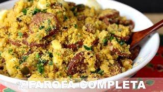 Farofa com bacon e calabresa - Receitas de Natal - Natal 2017