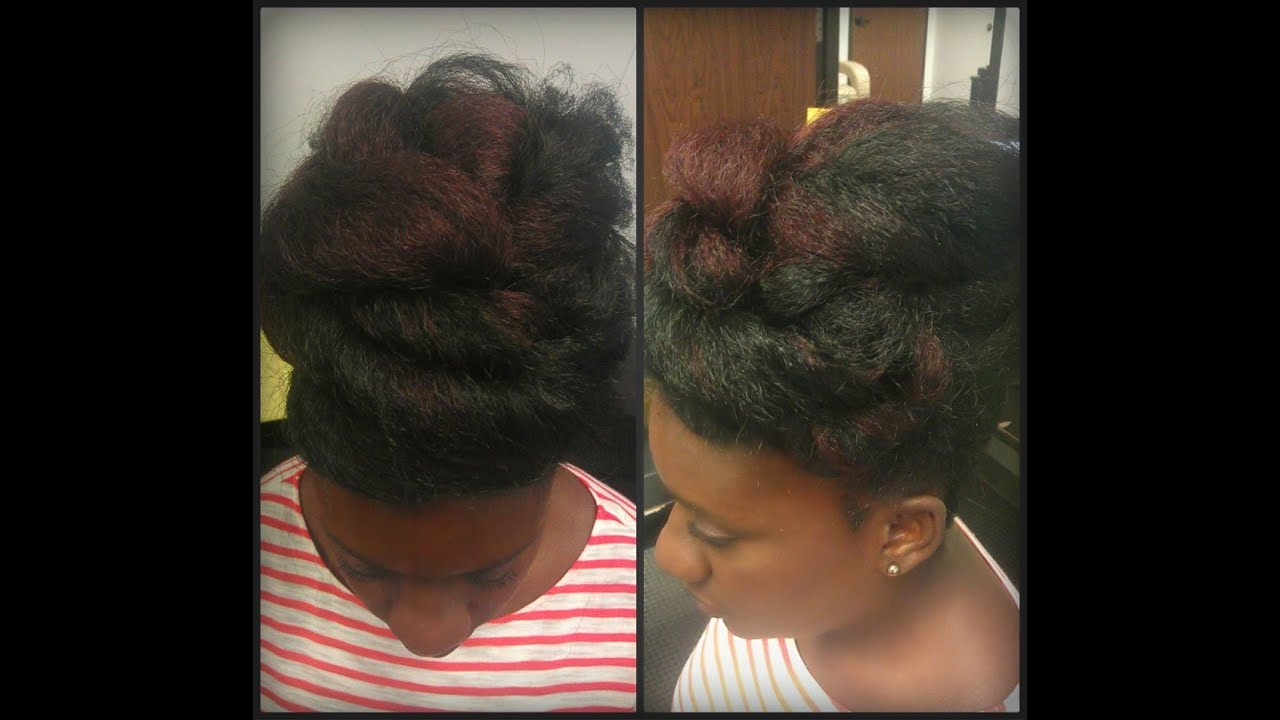 protective styles for hair hairstyle protective style big twisted faux bun 7041