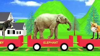The Animal Train | HD Animation