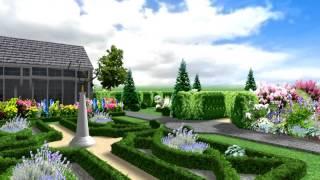 видео Ландшафтный дизайн сада в Киеве