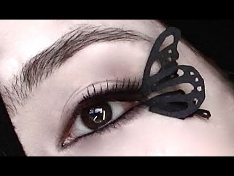 DIY Paper Butterfly False Lashes