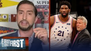 If 76ers go out of playoffs early, fire Brett but keep Embiid - Nick Wright | FIRST THINGS FIRST