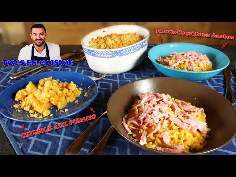 tous-en-cuisine-#1-:-je-teste-le-risotto-aux-coquillettes-et-le-crumble-aux-pommes-de-cyril-lignac-!