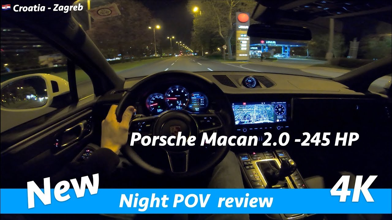 Porsche Macan 2019 Night Pov Drive And Review In 4k Acceleration 0 100 Km H