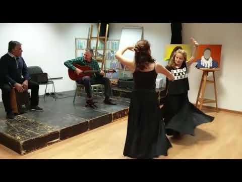 baile por sevillanas en el instituto diego velázquez de torrelodones