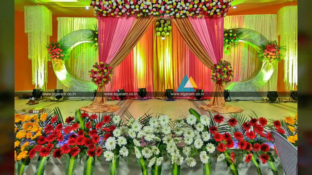 Valaikappu Stage Decoration At Jayaram Hotel Pondicherry By