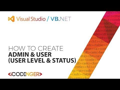 VB NET - Admin & User (User Level & Status)